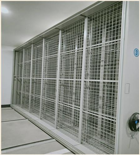 唐山柱式手动密集架保管箱