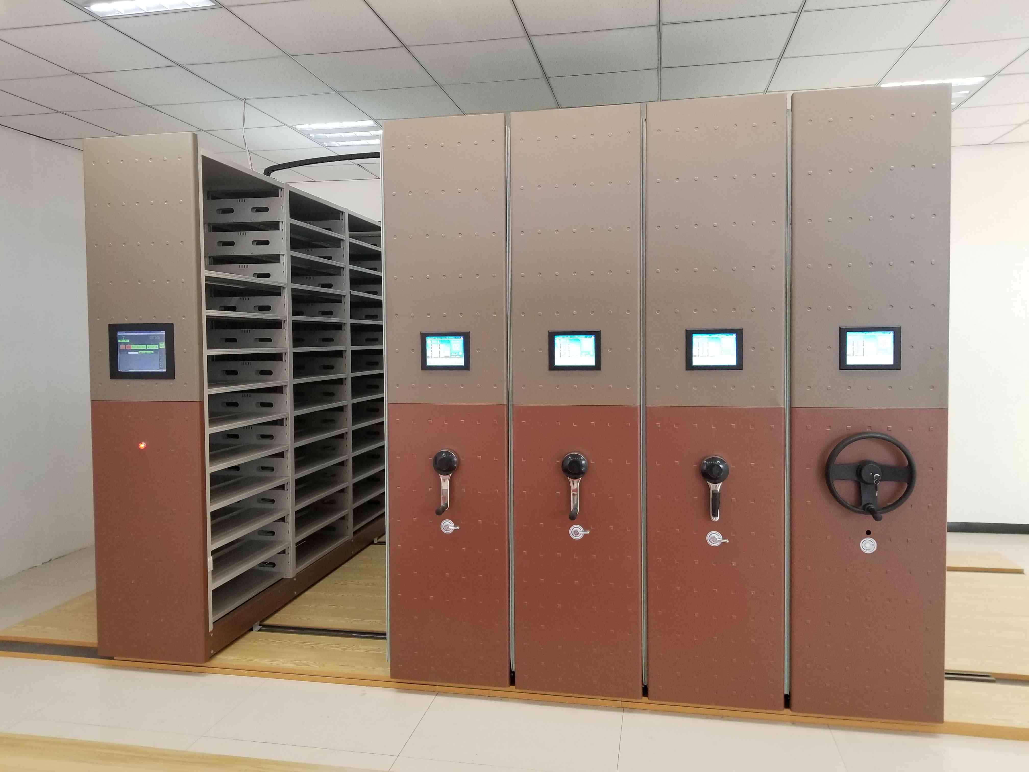 赣州图书室智能密集书架凉片柜