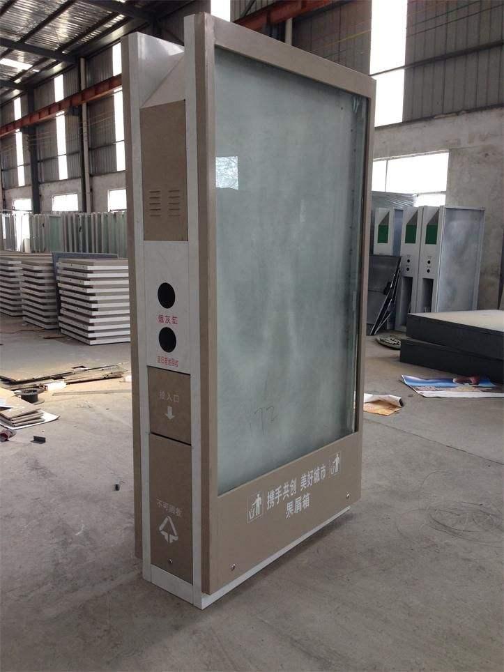 唐山太阳能广告垃圾箱图纸