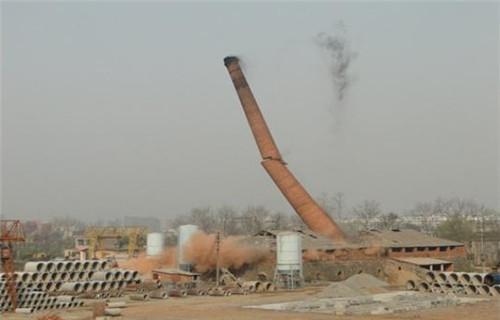 榆林混凝土烟囱安装爬梯--30米烟囱拆除