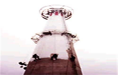 衡阳烟囱爬梯平台维修更换--30米烟囱拆除