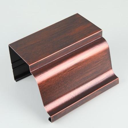 成品天沟厂家5英寸彩铝天沟内蒙古阿拉善腾诚优质原料