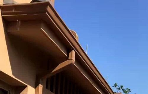 青海省黄南市铝合金檐沟檐槽上门安装