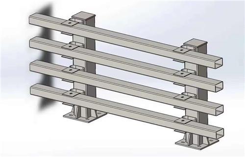 玉树不锈钢钢板立柱护栏现场施工安装
