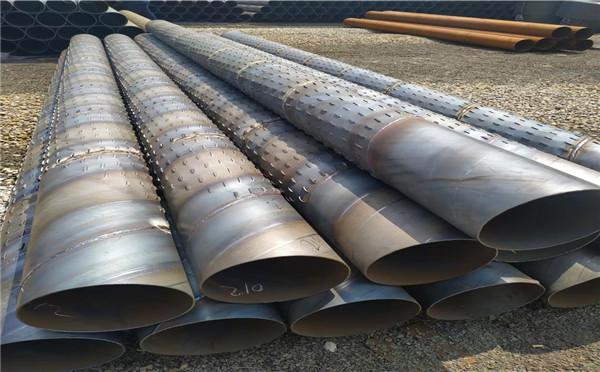 苏州穿孔式桥式滤水管冲孔井用滤水管今日价格