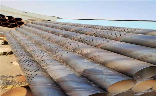 张家界螺旋圆孔降水井管273*6 500*6桥式滤水管生产厂家